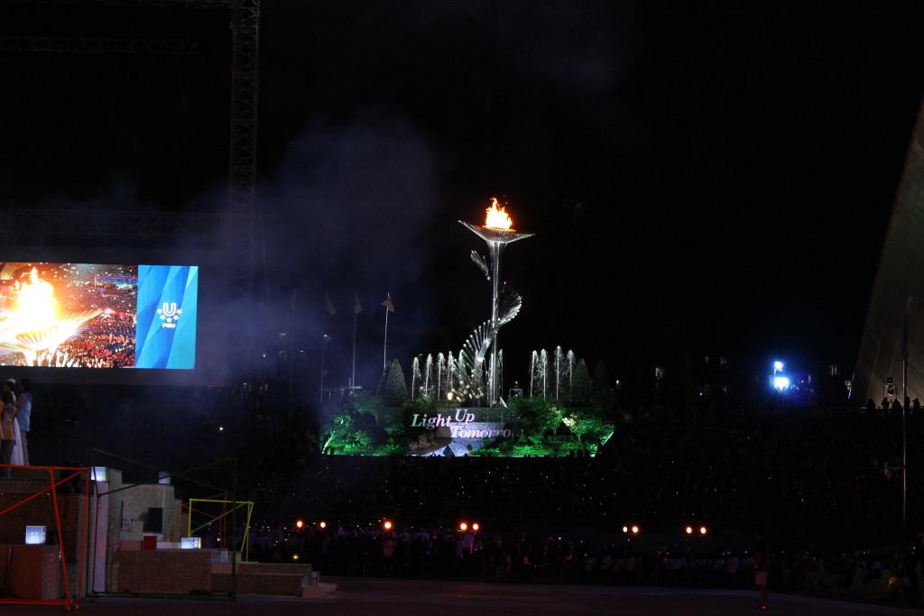 Frisch entflammtes Feuer der Universiade