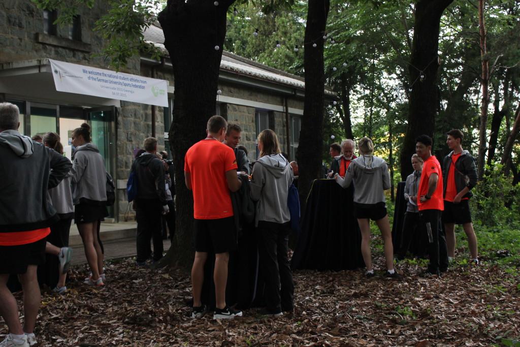 Empfang im Garten des Goethe Institut