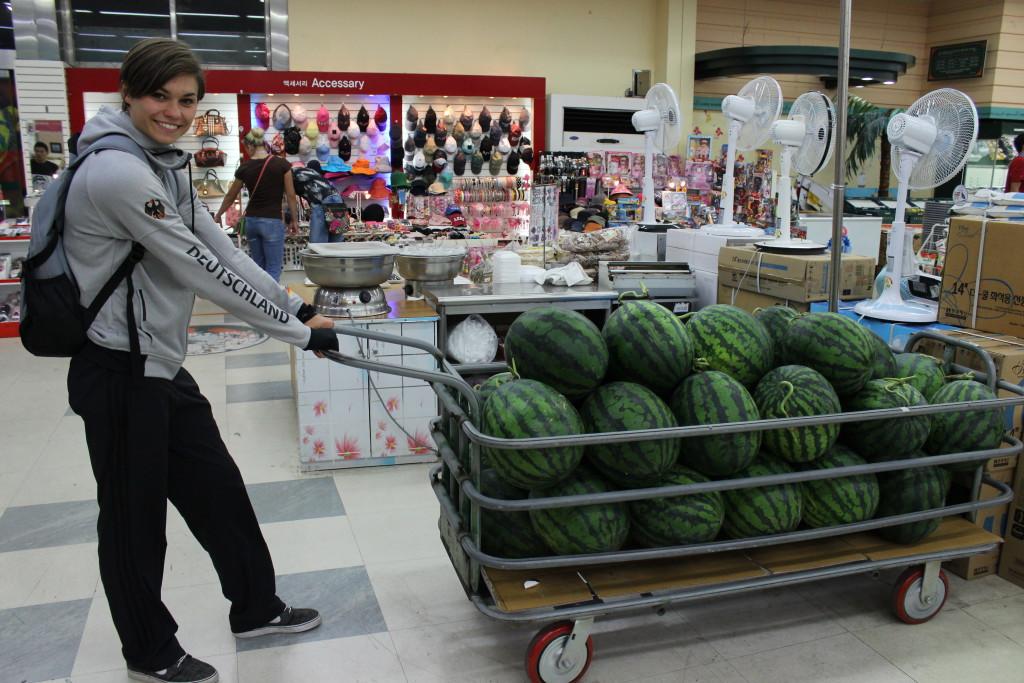 Melonen zum Schieben