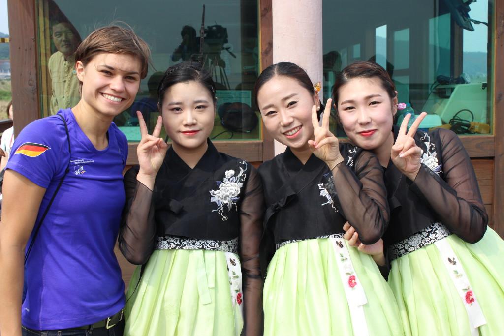 Touri-Bild mit koreanischen Sängerinnen