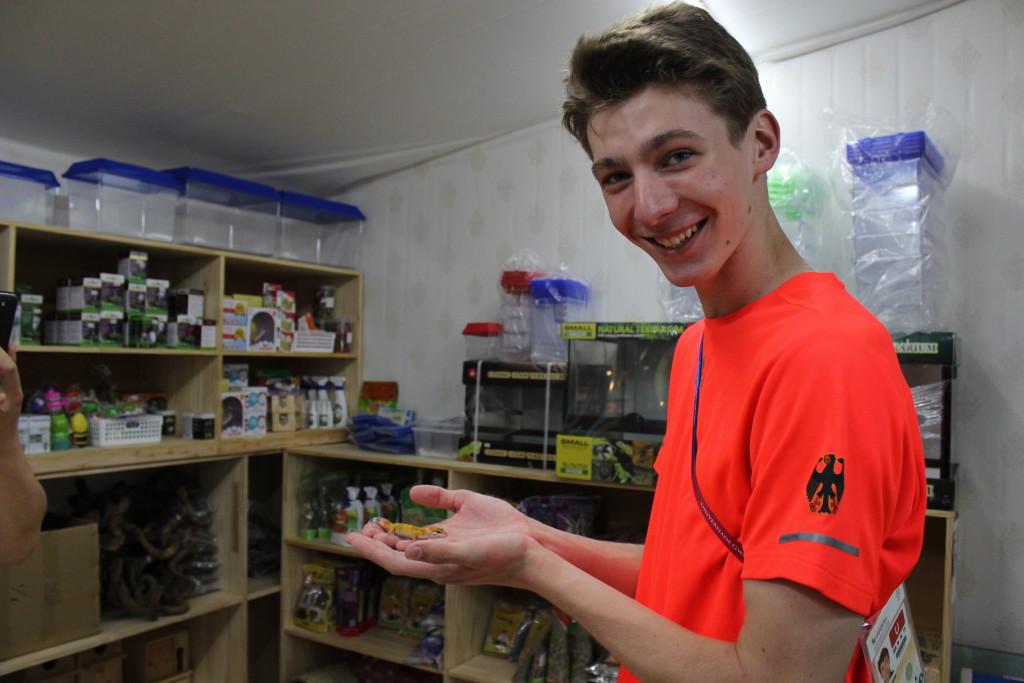 Ewald mit Gecko