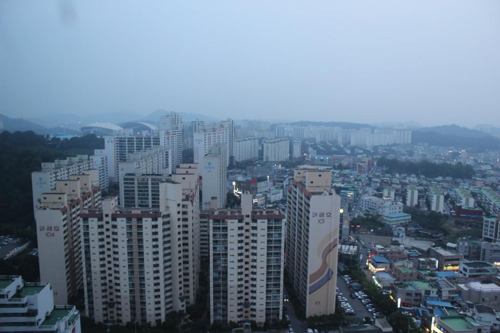 Blick auf das Main Stadium Gwangju