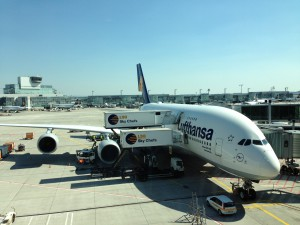 Airbus A380 in Frankfurt
