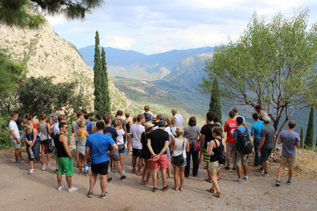 Blick über das Tal bei Delphi