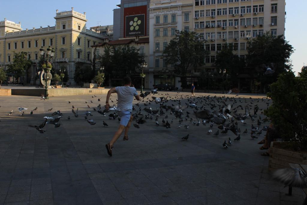 Jan und die Tauben von Athen