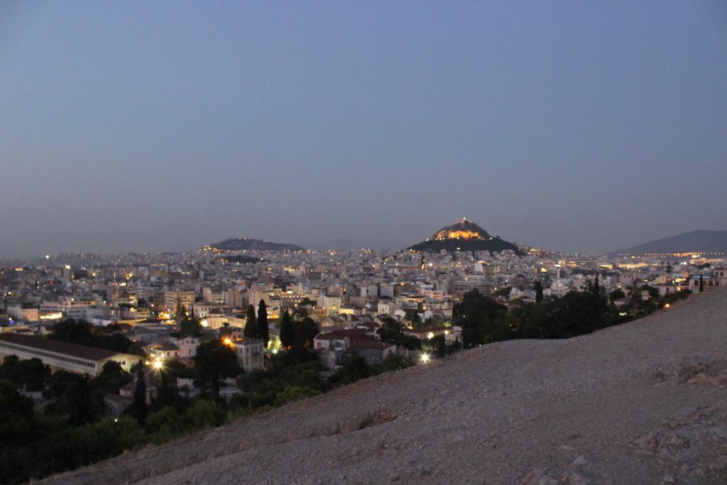 Blick auf Athen vom Hügel vor der Akropolis