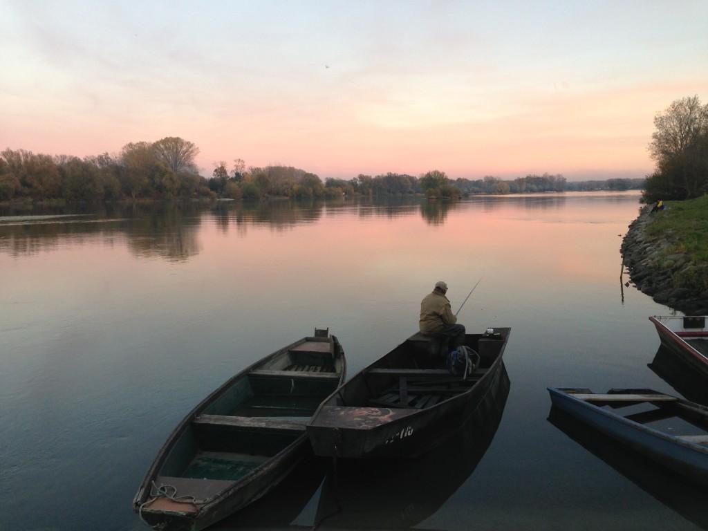 Angler in der Nähe von Zagreb