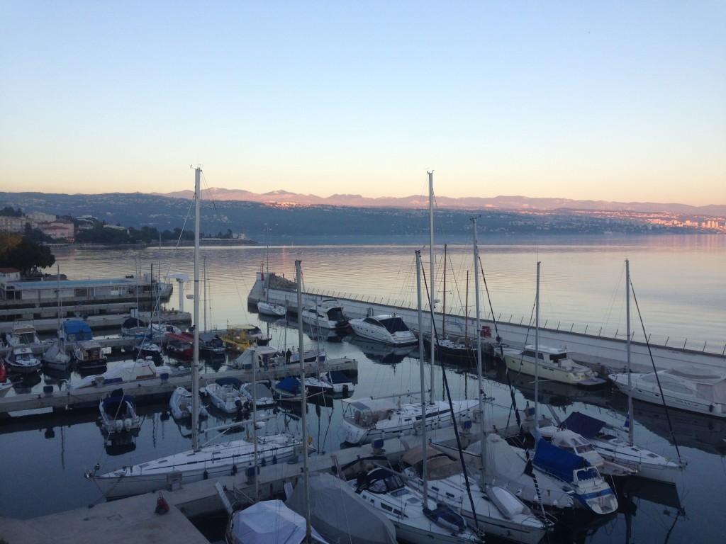 Blick aus dem Hotelzimmer auf die Adria