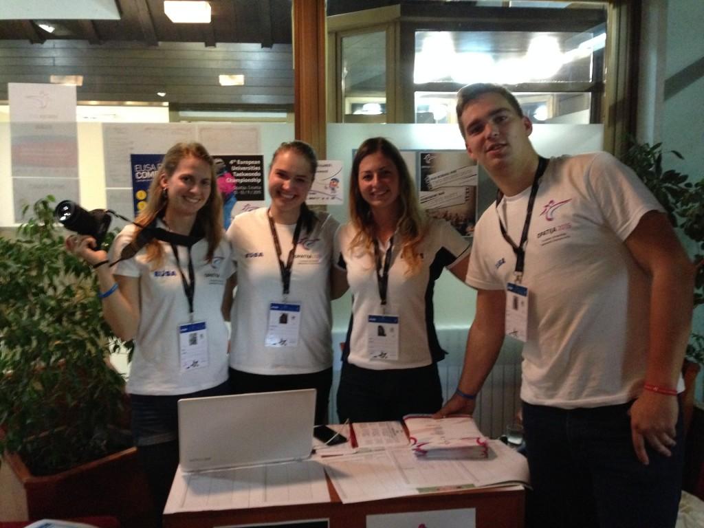 Orga Team der European Taekwondo Universities Championship (EUC)