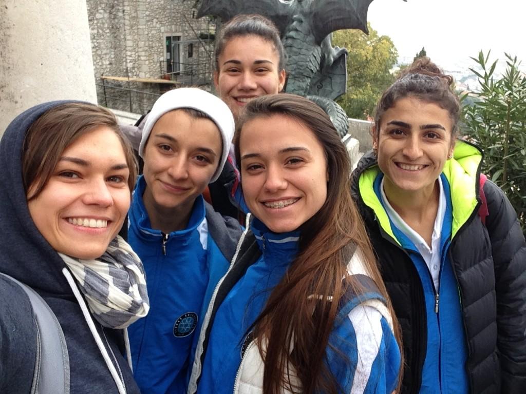 Selfie mit den Türkinnen von der Uludag Univerity