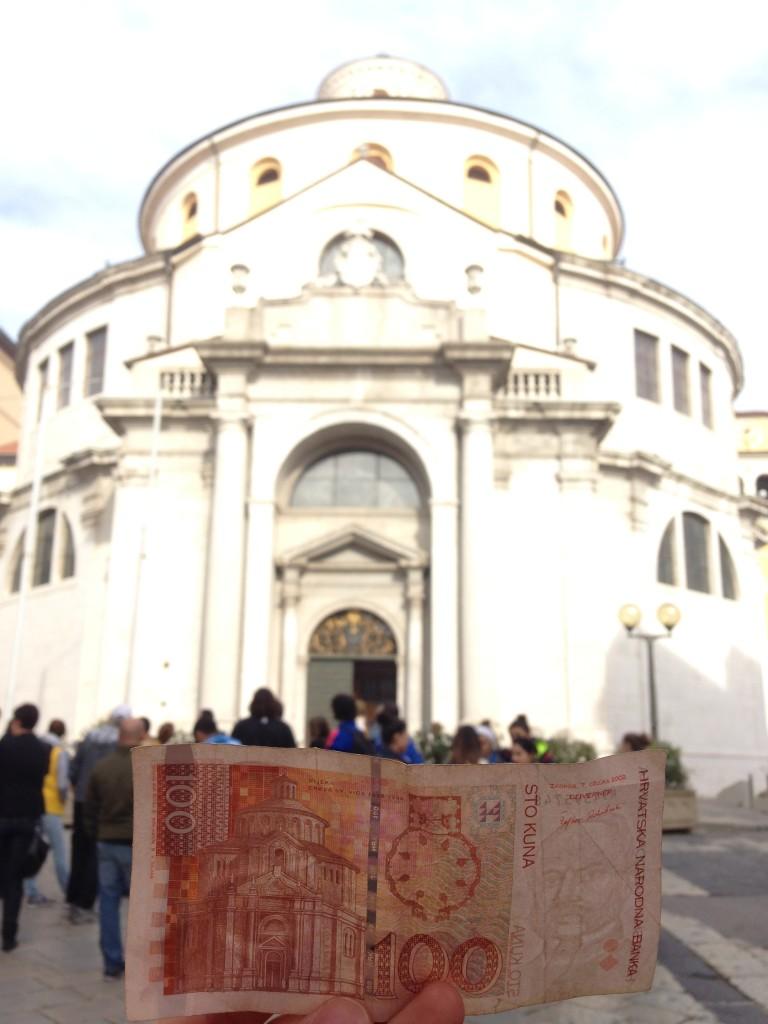 Kirche des Heiligen Veit auf dem 100 Kuna Schein