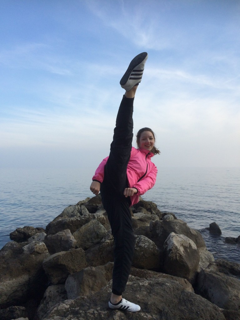 Taekwondo am Meer