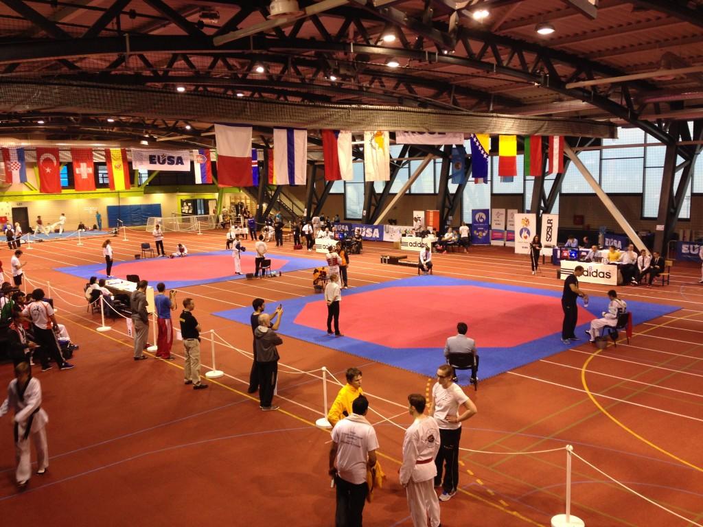 Die Wettkampfhalle in Rijeka
