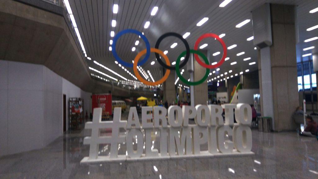Ankunft am Flughafen in Rio.